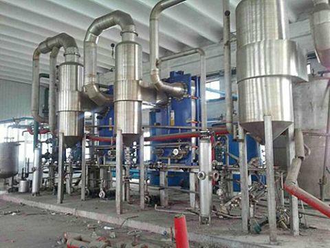 二手10噸板式三效四體蒸發器